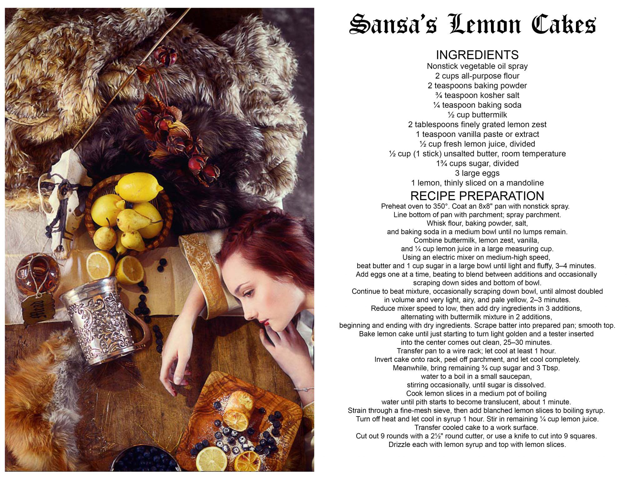 sansa and the lemon cackes