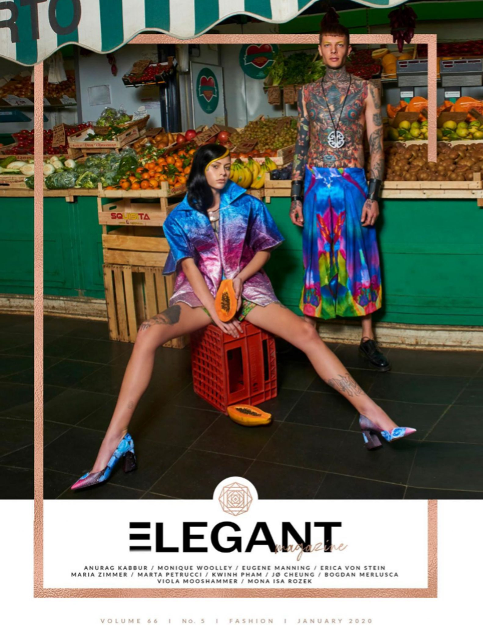 cover for elegant magazine